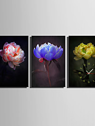 E-HOME® Flower Clock in Canvas 3pcs