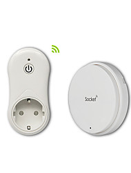 Battery-free Self-powered Wireless Remote Control Socket (EU Plug)-WHITE