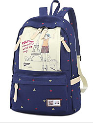 Casual Backpack Women Canvas Blue