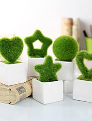 Ceramic Practical Favors-1 Office Use Garden Theme Green 13.5*6.6*6.6cm Tassel