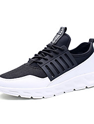 Men's Sneakers Fashion Sports Shoes Casual Running Shoes Flat Heel Lace-up Black / White / Black and White EU39-43