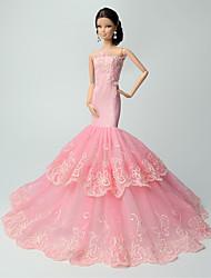 Fête / Soirée Robes Pour Poupée Barbie Rose Lace Robes Pour Fille de Doll Toy