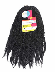 Вязаные Pre-петлевые вязания крючком плетенки Наращивание волос 18Inch Kanekalon Recommended Buy 4 Packs Full Head нитка 80g граммкосы