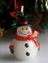 Christmas Scar Snowman Christmas Eve Candle 5Cm