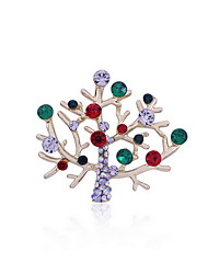 Christmas Women White Tree Polar Bear Brooches