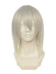 D.Gray-man Kimani Gray Yzak Jule White Short Straight Halloween Wigs Synthetic Wigs Costume Wigs