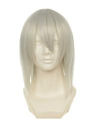 D.Gray-man Kimani grijze Yzak jule witte korte rechte stuk halloween pruiken synthetische pruiken kostuum pruiken