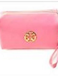 Women Polyester Professioanl Use Cosmetic Bag Purple Fuchsia Blushing Pink Light Blue
