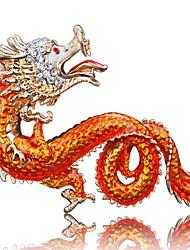 anel chinês creativo chave liga formato de dragão