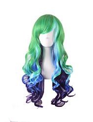 perucas materiais recurso para o estilo mulheres mostrado cor Perucas de Carnaval cosplay ombre peruca perucas cabelo Sintéticas naturais