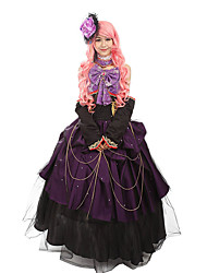 Steampunk@Womens Customized Purple Sweet Maidservant Outfits Cosplay Party Costumes