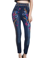 Pantaloni Da donna Skinny Sensuale Cotone Media elasticità