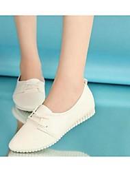 Da donna-Sneakers-Casual-Comoda-Piatto-PU (Poliuretano)-Nero / Bianco