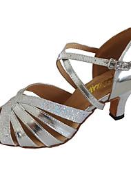Customizable Women's Dance Sandals Customized Heel Leatherette Open Toe Dance Shoes
