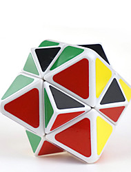LanLan® Cube de vitesse lisse Octahedron Niveau professionnel Cubes magiques Blanc Autocollant lisse / ressort réglable ABS
