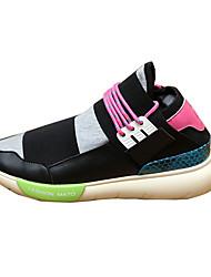 Unisex Sneakers Spring / Fall Comfort PU Casual Flat Heel Black / Pink Sneaker