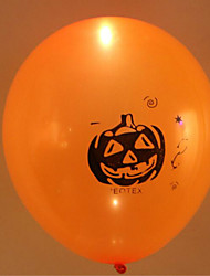 5pcs de halloween couleur aléatoire coloré ballon lumière tête de citrouille clignotants ballons en latex conduit décorations d'Halloween
