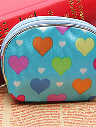 Damen Brieftasche Leinwand Normal Beige Blau Rosa
