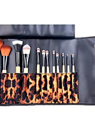 12 Blush Brush / Eyeshadow Brush / Brow Brush / Eyeliner Brush Professional / Travel / Full Coverage Wood