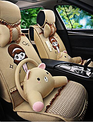 Summer New Lovely Female Cartoon Characters Car Cushion Linen All-Inclusive Cushion