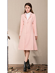 Cheap Z1298 woolen coat woolen coat female winter new literary Slim Long woolen coat big skirt
