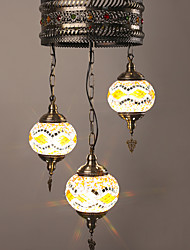 BOXIMIYA Restaurant Ideas To Restore Ancient Ways Wrought Iron Mediterranean Country Art Glass Antique Chandeliers.