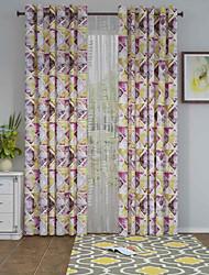 1 панель Окно Лечение Оригинальный рисунок , геометрический Гостиная Полиэстер материал Шторы портьеры Украшение дома For Окно