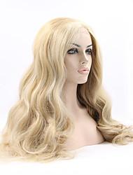 sylvia dentelle synthétique avant perruque résistant à long ondulés d'aspect naturel chaleur blond perruques synthétiques