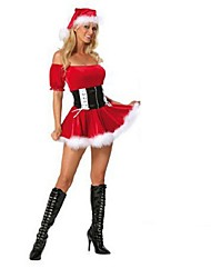 Sexy Off Shoulder Christmas Costumes Sexy Father Christmas Costumes Adult Women Cute Santa Miss Costumes