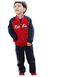 Boy's Casual/Daily Print Clothing SetCotton Winter Green / Red