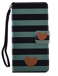 For Sony Xperia X XA Case Cover Striped love Pattern Painting PU Leather Material Card Stent for XP XZ