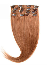 pince dans les cheveux humains extentions soyeux droites # 30 100% cheveux humains 16-24 pouces pince dans les cheveux brazilian prix