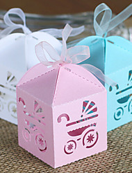 50 Piece/Set Favor Holder-Creative Card Paper Favor Boxes With Ribbon Non-personalised