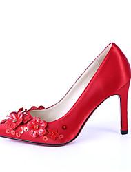 Красный-Женский-Свадьба-Материал на заказ клиента-На шпильке-Others-Обувь на каблуках