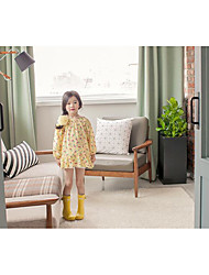 Girl's Casual/Daily Floral Overall & JumpsuitCotton Spring / Fall Yellow