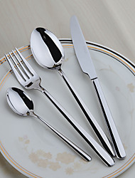 4-Piece Slap-Up Western Restaurant The Kitchen Utensils Stainless Steel Dinner Fork Dinner Knife Spoons  Forks Knives