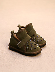 Girl's Boots Comfort Suede Casual Black Yellow Green Red