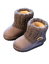 Girl's Boots Winter Comfort Fabric Casual Flat Heel Others Black Pink Gray Beige Others