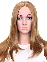 Long Wavy Hair Strawberry Blonde Color Synthetic Wigs for Women