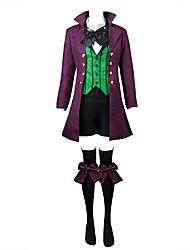 Вдохновлен Тёмный дворецкий Ciel Phantomhive Аниме Косплэй костюмы Косплей Костюмы Однотонный / Пэчворк Черный / Фиолетовый / Зеленый