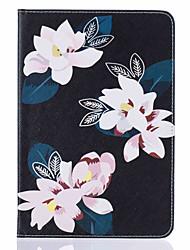 Pour Porte Carte Avec Support Clapet Motif Coque Coque Intégrale Coque Fleur Dur Cuir PU pour Apple iPad Mini 4 iPad Mini 3/2/1