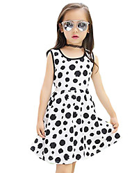Girl's Going out Polka Dot Dress,Cotton Summer White