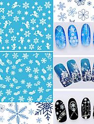 12pcs Nail Art Sticker Decalques de transferência de água maquiagem Cosméticos Prego Design Arte