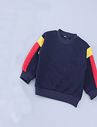 Girl's Casual/Daily Patchwork Hoodie & Sweatshirt,Cotton Spring / Fall Blue
