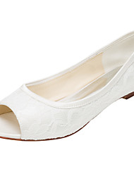 Women's Flats Spring /  Fall Others Stretch Satin Wedding / Party & Evening / Dress Flat Heel Others Ivory Others