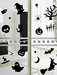 Halloween Pumpkins Bats Home Decor Wall Stickers Funny Party Kids Gift Sticker Shop Store Window