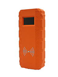 Q8 беспроводной быстрой зарядки автомобиля многофункциональный автомобиль начать мощность (оранжевый цвет)