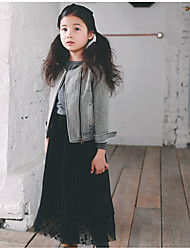 Girl's Casual/Daily Solid SkirtCotton Winter / Fall Black