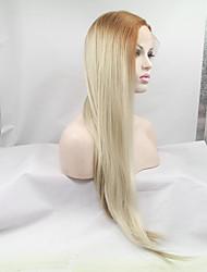 sylvia frente peruca sintética do laço morango raízes loiras lixívia resistentes cabelo loiro cabelo vermelho cabelo ombre calor longas