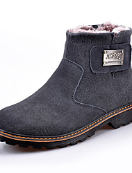 Men's Boots Comfort Leather Casual Black / Brown / Gray